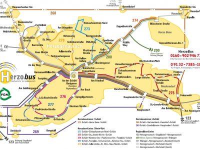 Überplanung des HerzoBus-Verkehrs der Stadt Herzogenaurach